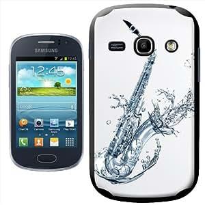 Fancy A Snuggle - Carcasa rígida para Samsung Galaxy Fame S6810, diseño de saxofón con agua