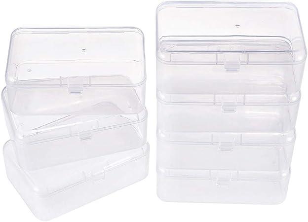 BENECREAT 12 Pack Mini Caja de Contenedores de Almacenamiento de Cuentas de Plástico Transparente con Tapa para Artículos, Hierbas, Grano Diminuto, Joyas 9x6x3.2cm: Amazon.es: Hogar