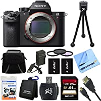 Sony ILCE7RM2/B a7R II Full-Frame Mirrorless Interchangeable Lens Camera Body 64GB Bundle includes a7R II Full-frame Camera Body, Screen Protectors, Gadget Bag, High Speed 4K Video 64GB SDXC Memory Card, Memory Card Wallet, Card Reader, 62mm Deluxe Filter Kit and More At A Glance Review Image