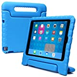 Samsung Galaxy Tab S2 9.7 kids case, COOPER DYNAMO Heavy Duty Children's Rugged Tough Bumper Hard Protective Case Cover with Built-in Handle, Stand & Free Screen Protector (Blue)