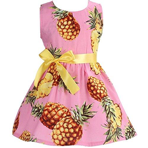 Floral Cotton Children Toddler Girls Dress Beach Summer ;Casual Glower Princess Teenage Kids Dress (Halloween Parties Jersey City 2017)