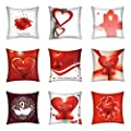 Throw Pillow Cover, DaySeventh Valentine's Day Polyester Printed Sofa Car Home Decoration Pillow Case 18x18 Inch 45x45 cm