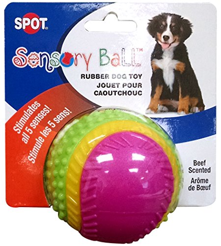 Ethical Pets Spot Sensory Rubber Sented Ball Dog Toy
