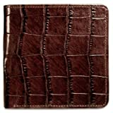 Jack Georges Croco Collection Hipster Mens Wallet-Brown
