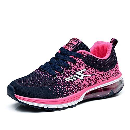 Leichtes Turnschuhe Laufschuhe Damen Herren Profilsohle Schuhe TORISKY Air Pink Sportschuhe Sneakers XFnB5
