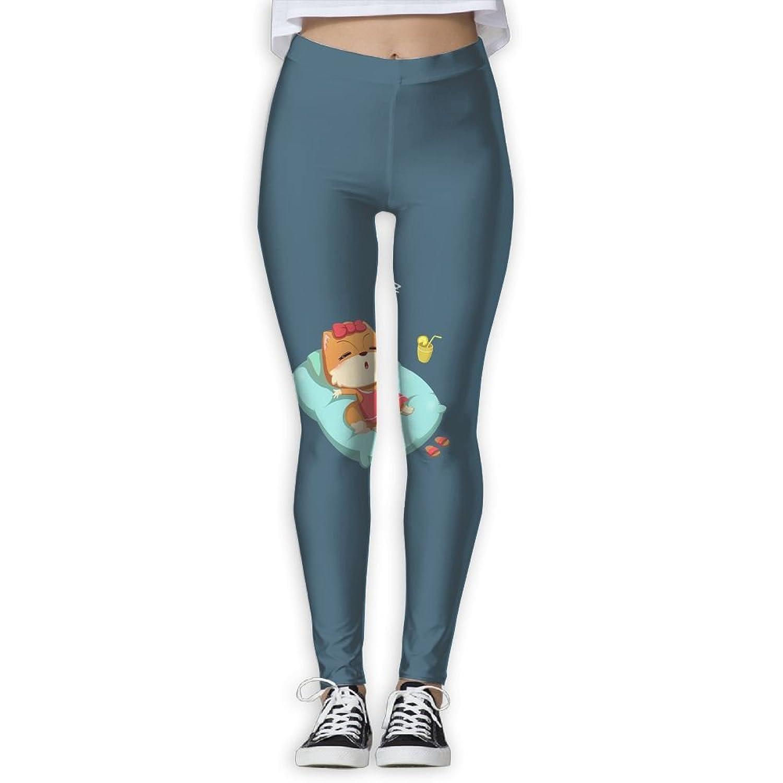 deb3de0855ccb BabylLave A Cute Sleeps Fox Women Printed Full-Length Yoga Workout Leggings  for Running Outdoor