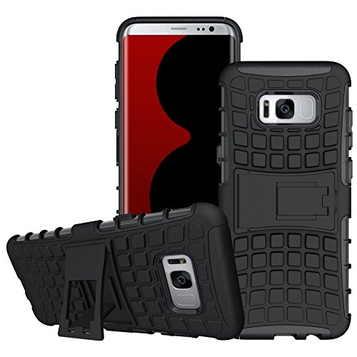 S8 Plus / Galaxy S8 Plus / Case,DIOS CASE(TM) Heavy Duty Tyre Texture Dual Layer Hybrid Hard Plastic+Rubber Armored Protection Rugged Kickstand Cover for Samsung Galaxy S8 Plus (6.2 inch)