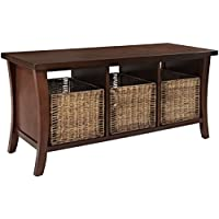 Crosley Furniture Wallis Entryway Storage Bench - Vintage Mahogany