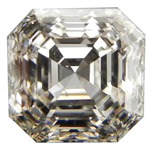 RINGJEWEL 2.16 Ct VVS1 Asscher Cut Loose Moissanite Use 4 Pendant/Ring Off White H-I Color
