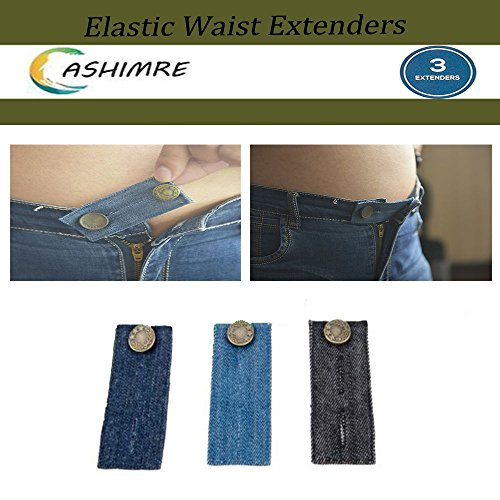 st Extender/With Metal Button for Jeans Men and Women Waist Extender Button Pants Jeans Maternity (Belly Jean)