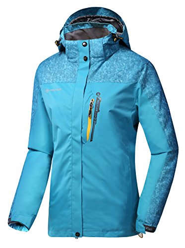 Women Hooded Front-zipper Multifunctional Waterproof Lightweight Hiking Climbing Raincoat Outdoor Sports Jackets&Pants