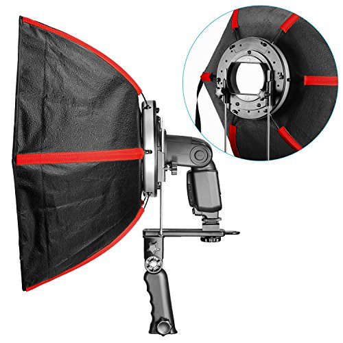 Fovitec 180 Degree Tilt 1x Multi Purpose Heavy Duty Clamp - Metal Construction Rubber Padding Holds Reflectors, Backdrops /& Diffusers