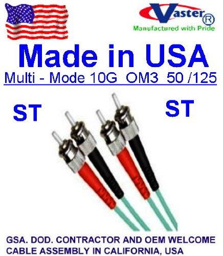 10 pcs /パック40 M St - St 10 g om3 ( Made in USA ) 50 / 125マルチモードfiber-aqua B00JNUH4SY