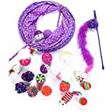 Mumoo Bear 17pcs/set Interactive Cat Toys Mouse Crinkle Ball Cat Tunnel Feather Cat Stick Wand Pet Toys