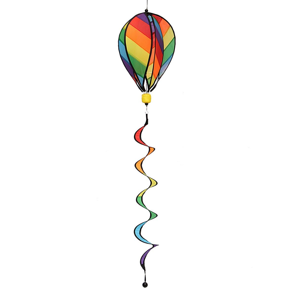 Garden Yard Wind Spinner, Mini-Factory Colorful Hot Air Balloon Wind Spinner Hanging Decoration for Yard & Garden