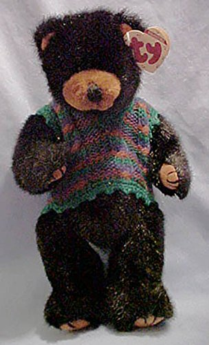 (TY Attic Collectible Boris the Bear wearing sweater vest - 6041)