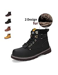 ENLEN&BENNA Women\Men's Work Boots Safety Boots Composite Toe Cap Waterproof Tan Casual Motorcycle Boot Lightweight