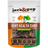 Jack&Pup Joint Health Beef Jerky Chips Dog Treat Chews (1.6 Lbs)– Gourmet, Fresh & Savory Beef Gullet Jerky Bites -Naturally Rich in Glucosamine & Chondroitin – Promotes Healthy Joints & Tissue Growth For Sale