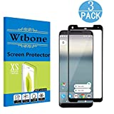 Google Pixel 2 XL Screen Protector [3-Pack], Wtbone -[3D Coverage, No Bubble] PET HD Screen Protector Film for Google Pixel2 XL - Black