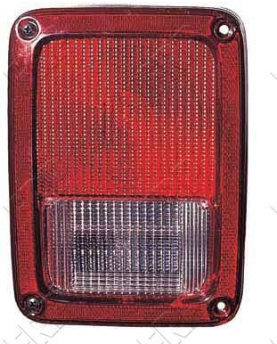 Sherman Replacement Part Compatible with Jeep Wrangler Sahara Driver Side Taillight Assembly Partslink Number CH2800177