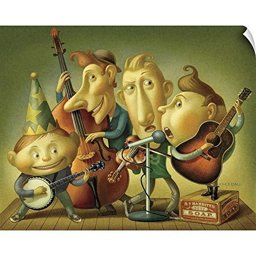 CANVAS ON DEMAND Bluegrass Boy Band Wall Peel Art Print, 30