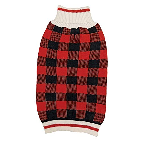 Fashion Pet Plaid Dog Sweater - Red (10 Pack)