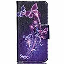 Acer Jade Z Case, Chinstyle Acer Liquid Jade Z Case Wallet Case Magnetic Closure Beautiful Butterfly Pattern Flip Cover