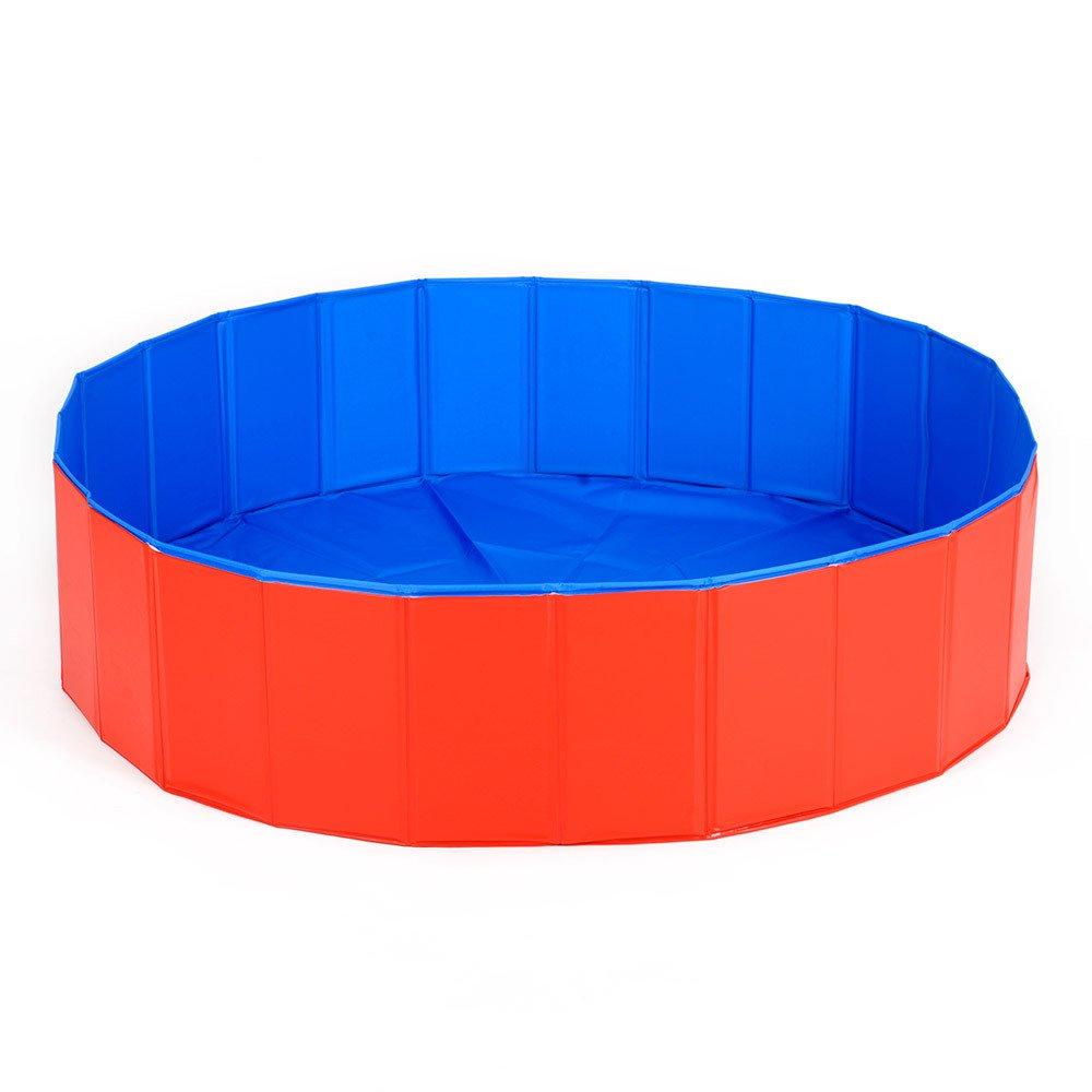 M WOWOWMEOW Pet Dog Bath Tub Foldable PVC Swimming Pool (M)
