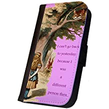 Samsung Galaxy S4 Case, Cover, The Different Person, Alice in Wonderland Design Flip Case, Book Style Case, Pocket Case ,Wallet Case, Flap Case, Designe Cover, Samsung Cover, Galaxy S4 Case. Made in the U.S.A. 11