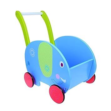 labebe - Niños parte unidad y carro \ Andador de madera (elefante): Amazon.es: Bebé