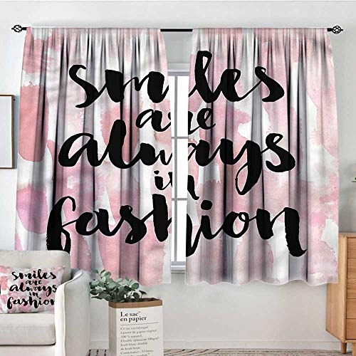 Quote,Kids Decor Patterned Drape Smiles are Always in Fashion 104