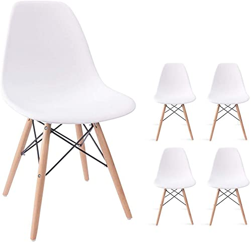 Devoko Modern Style Dining Chairs Mid Century Pre Assembled DSW Chair Classic Shell Lounge Plastic Side Chair