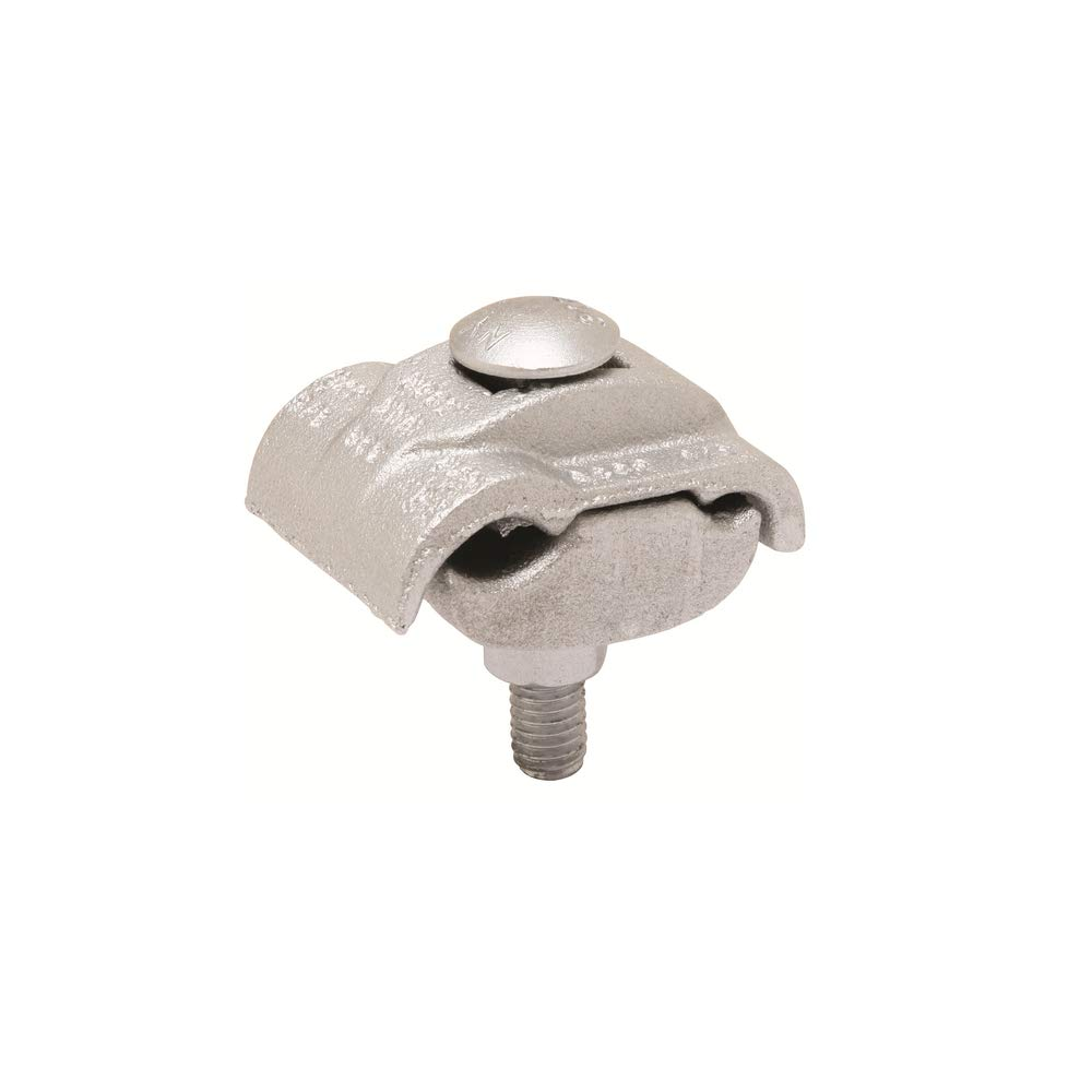 BURNDY UC28RS Type UC-RS Parallel Groove Clamp, 8 to 1/0 AWG Aluminum/Copper Stranded Conductor, 3/8 in Bolt, Aluminum