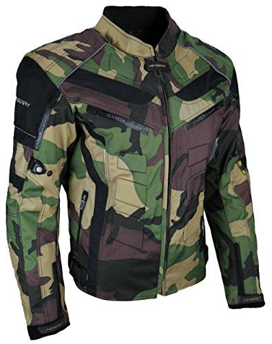HEYBERRY Motorrad Jacke Motorradjacke Camouflage Woodland Gr. 3XL