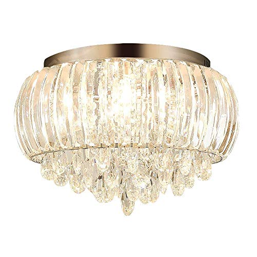 (Modern Chandelier Crystals Pendant Flush Mount Ceiling Light Crystal Ball Light Fixture for Hallway, Bedroom, Living Room, Kitchen, Dining Room (D 50cm/ 8-Light))