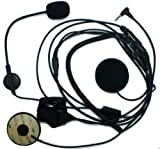 SUNDELY Open Face Half Helmet Motorcycle / Skiing Headset w/ Boom Mic For Yaesu/Vertex Radios VX-10 VX-110 VX150 VX-210 VX-300 VX-400 VXT-10 VX-2R FT-10R 1-pin Jack