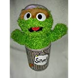 Oscar the Grouch Plush in Trash Can by Sesame Street 2003