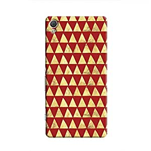Cover It Up - Gold Triangle Tile Xperia Z2 Hard Case