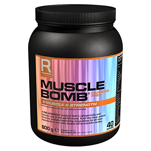 Reflex Nutrition 600g Black Cherry Caffeine Free Muscle Bomb Supplement