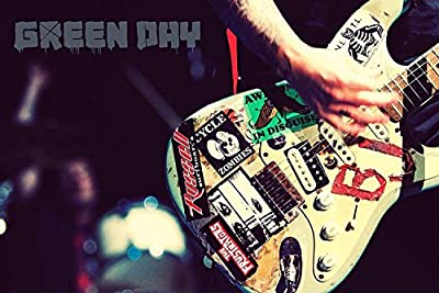 "Green Day "" Billie Joe Armstrong Guitar "" Quoted 12 x 18 Inch Poster Print Rolled Wall Decor"