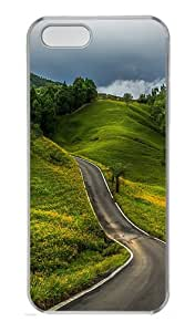 Mountain road Custom PC Hard Case Cover for iPhone 5S and iPhone 5 - Transparent