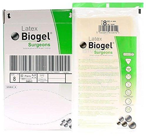 Molnlycke 30480 Biogel Surgeons Gloves - Latex Powder Free - Sterile - Size 8.0 - 50 Pairs by Biogel