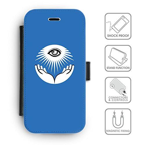 GoGoMobile Coque de Protection TPU Silicone Case pour // Q09070602 Œil Providence 17 ambre // Apple iPhone 5C
