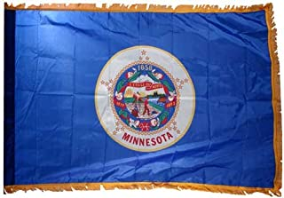 product image for Valley Forge Minnesota 3x5ft Nylon Flag with Indoor Pole Hem and Fringe