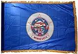 Valley Forge Minnesota 3x5ft Nylon Flag with Indoor Pole Hem and Fringe