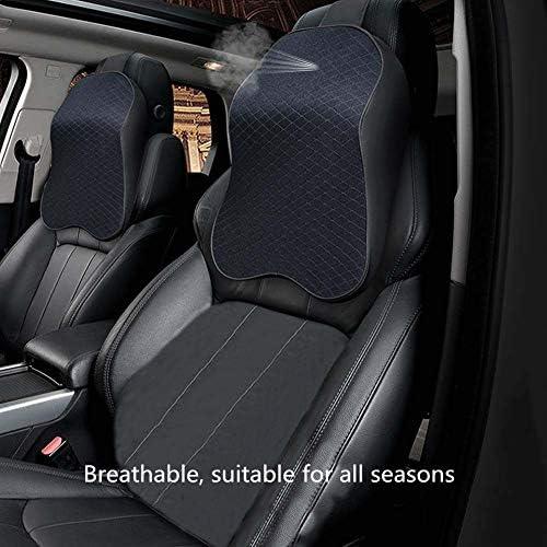 ZATOOTO Poggiatesta Auto Cuscino Supporto Testa per Seggiolino Auto Nero Cuscino da Collo con Memory Foam