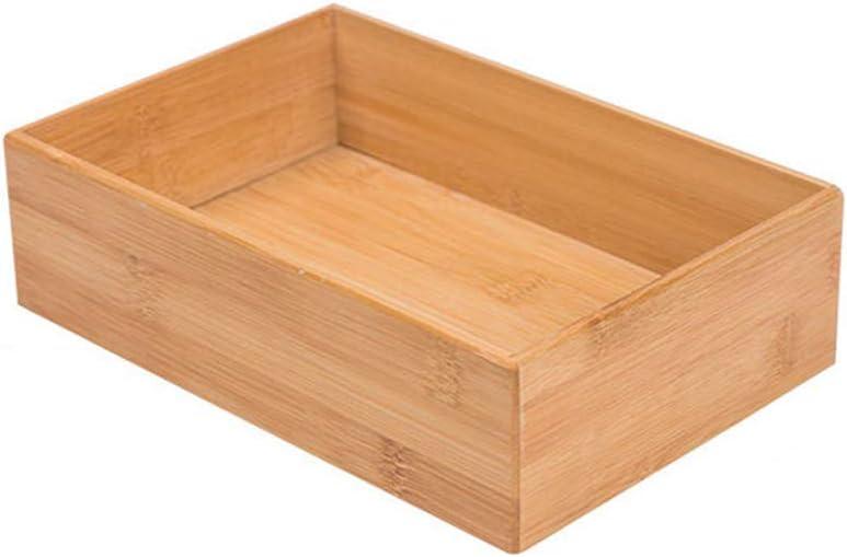Bamboo Drawer Organizer - Kitchen Utensil Organizer Silverware Tray Cutlery Holder,Office Desk Supplies and Accessories (8.9x5.9x2.6 inch)