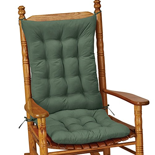 Quilted Rocking Chair Cushion Set Replacement, Green