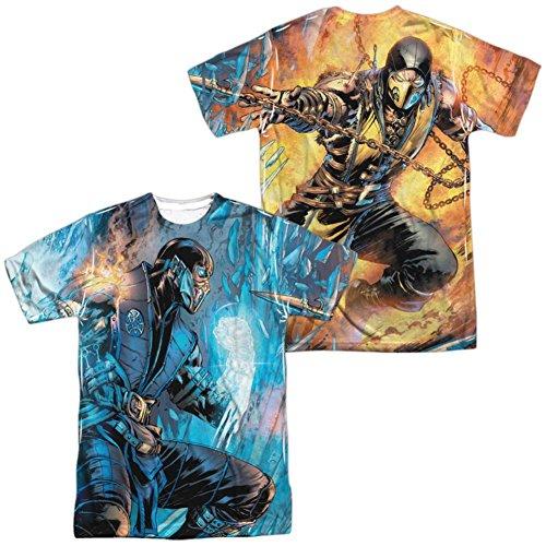 Mortal Kombat- Sub Zero Vs. Scorpion (Front/Back) T-Shirt Size XL for $<!--$19.50-->