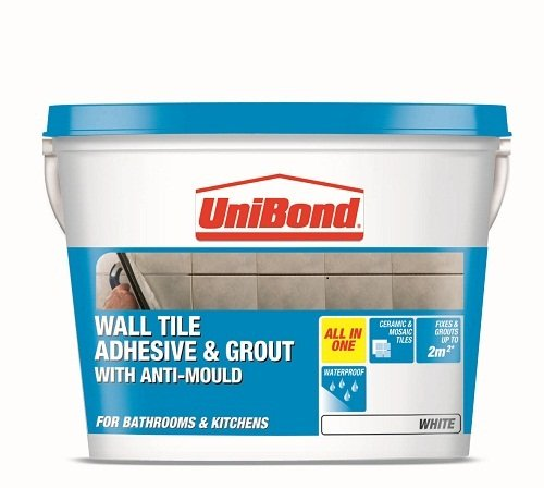 Unibond Wall Tile Adhesive And Grout With Anti Mould White Amazon